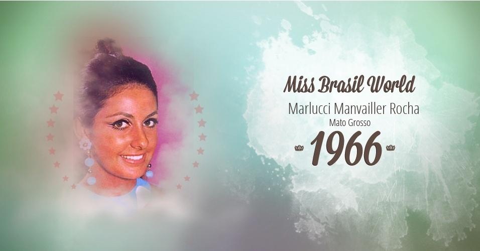 Marlucci Manvailler Rocha representou Mato Grosso e venceu o Miss Brasil World 1966