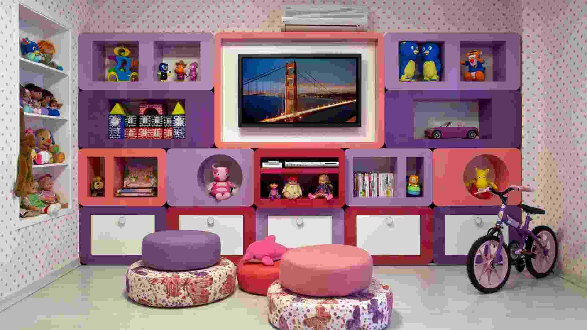 quarto de brincar projetado pela arquiteta Andrea Chicharo - Rodrigo Azevedo/Divulgação