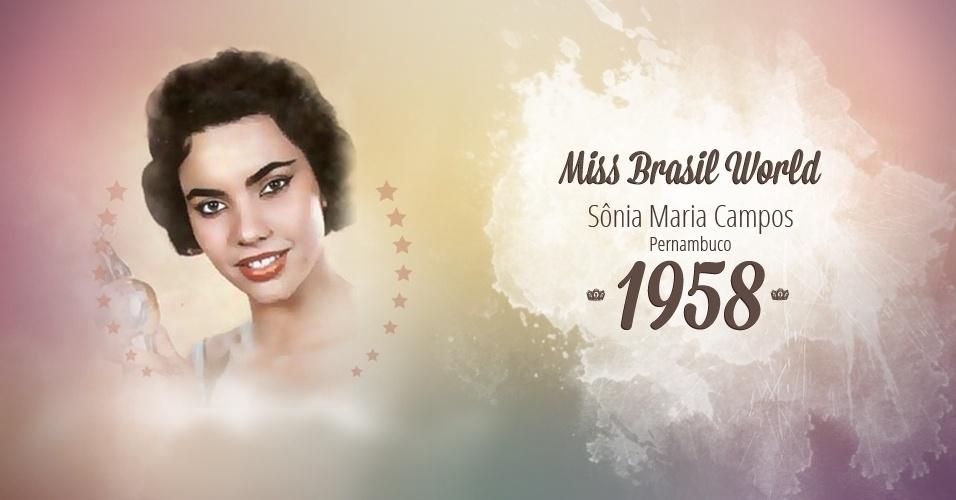 Sônia Maria Campos representou Pernambuco e venceu o Miss Brasil World 1958
