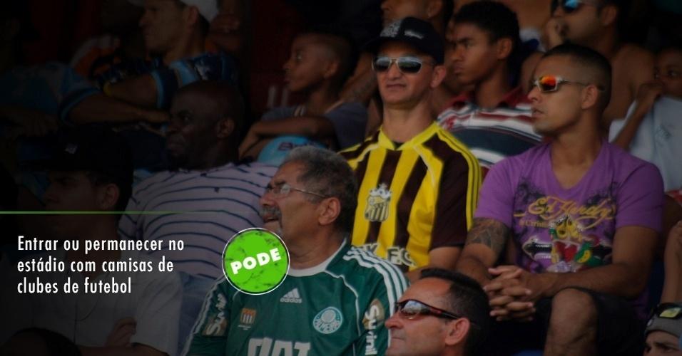 Usar camisas de clubes de futebol: pode