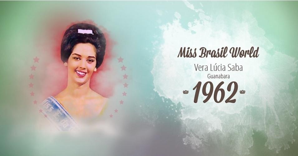Vera Lúcia Saba representou Guanabara e venceu o Miss Brasil World 1962
