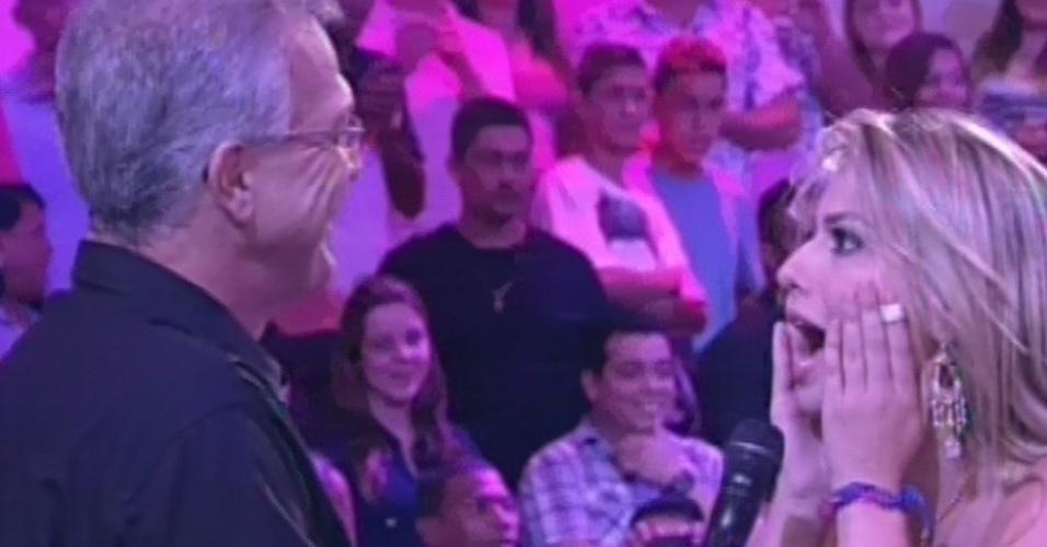 26.mar.2013 - Fernanda é entrevistada por Pedro Bial após ser anunciada como campeã do