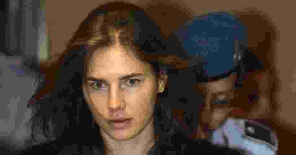 26.mar.2013 - Imagem de arquivo de Amanda Knox, estudante americana condenada pela morte de sua colega de quarto, Meredith Kercher, em novembro de 2007, na Itália - Alessandro Bianchi/Arquivo/Reuters