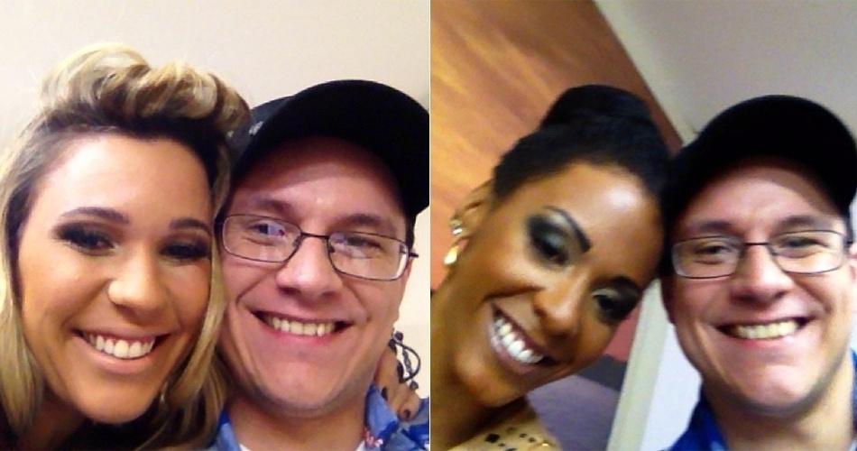 26.mar.2013 - Ivan com Marien, uma de suas melhores amigas na casa, e com Aline, que foi eliminada no primeiro paredão, contra o professor
