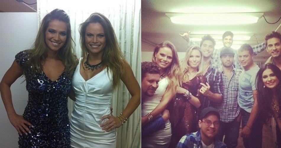 """26.mar.2013 - """"Todos prontos para a grande final BBB 13"""", escreveu Natália, que postou também uma foto com a amiga Fani"""