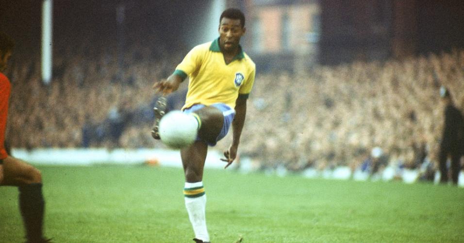 Na Copa do Mundo de 1966, na Inglaterra, a camisa do Brasil de Pelé também era da Umbro