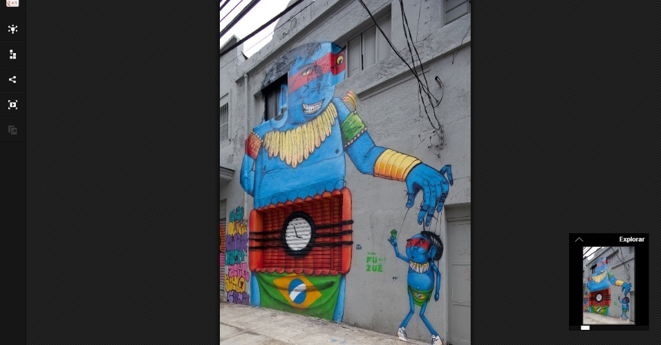 Projeto Galeria São Paulo Street Art, do Google, mostra obras de artistas de rua da cidade de São Paulo