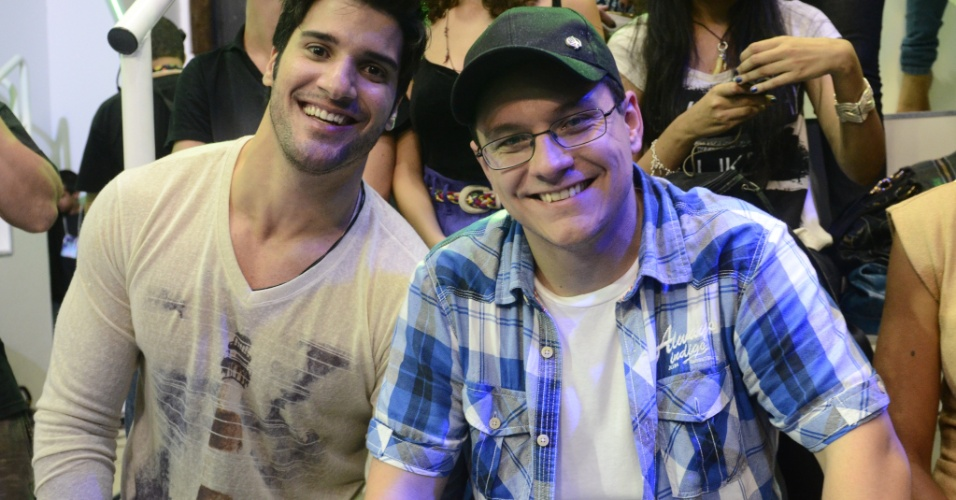 "26.mar.2013 - Marcello e Ivan também estiveram presentes na final do ""BBB13"""