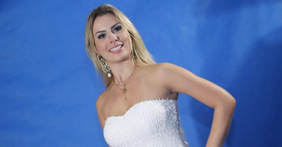 """26.mar.2013 - Vencedora do """"BBB13"""", Fernanda diz ter esperança de manter o romance com André fora da casa. """"A gente sabe que a vida aqui fora é totalmente diferente. Quero que seja o melhor para nós dois"""", disse a mineira"""