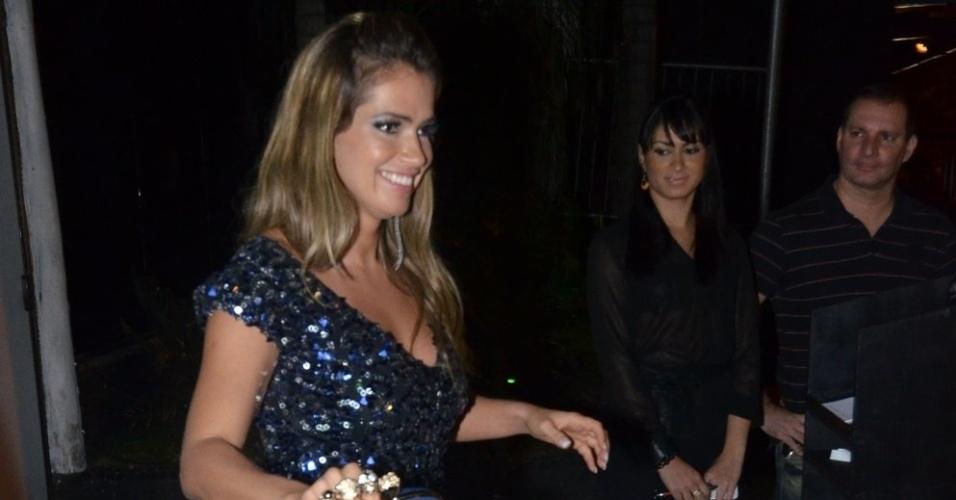 """27.mar.2013 - Fani chega à festa de encerramento do """"BBB13"""""""