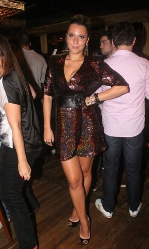 """27.mar.2013 - Marien posa para foto na festa de encerramento do """"BBB13"""""""