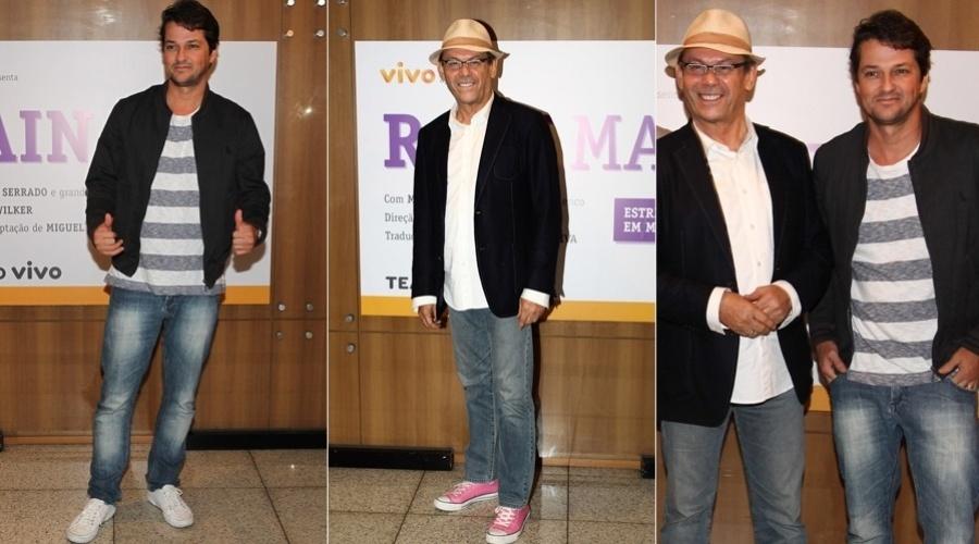 28.mar.2013 - Marcelo Serrado e José Wilker se reuniram com a imprensa para apresentarem o espetáculo