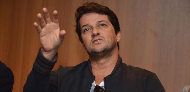 """Marcelo Serrado participa de entrevista coletiva sobre a peça """"Rain Man"""", em São Paulo"""