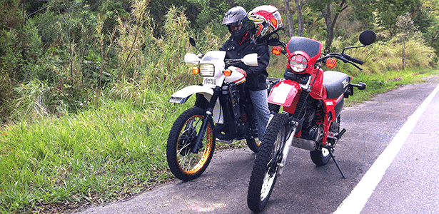 Motos Agrale e Honda do século passado durante passeio no interior de São Paulo - Diego Rosa