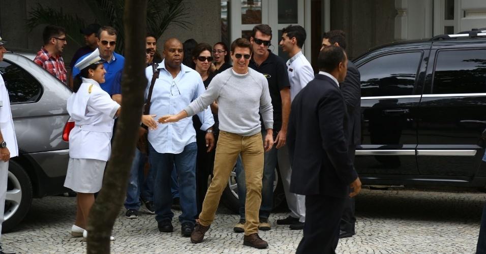 """Em março de 2013, Tom Cruise se hospedou no hotel Copacabana Palace para promover o filme """"Oblivion"""""""