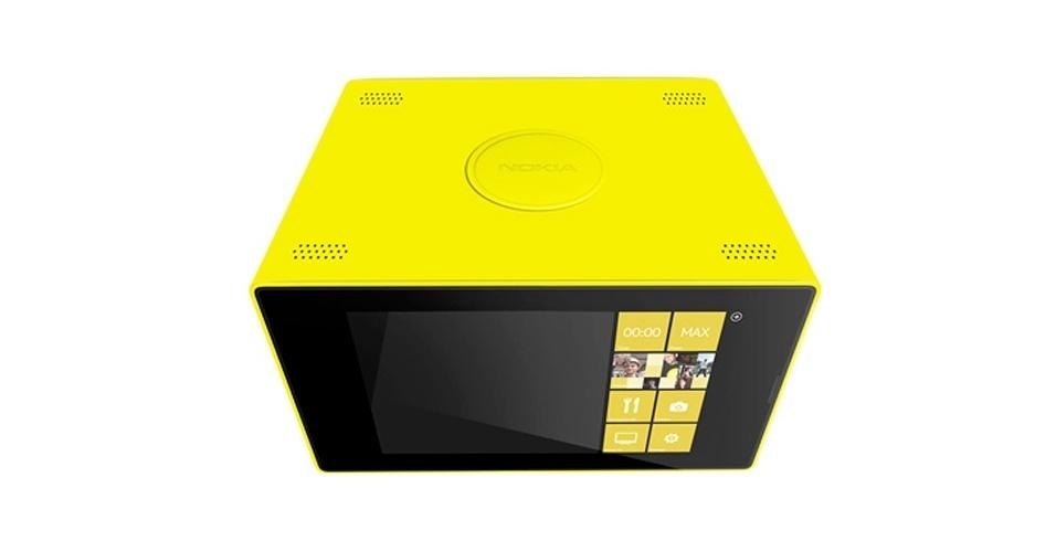 2013 - A Nokia anunciou que lançaria um micro-ondas  com tela touch, o Nokia 5AM-TH1N6 Constellation, para complementar sua linha de produtos. O aparelho (à la Lumia) viria com a tecnologia de rastreamento dos olhos, que pararia o funcionamento do micro-ondas assim que o usuário olhasse para a comida. Inclusive, esse recurso também ajustaria a temperatura do alimento conforme o quão faminto o usuário parecesse ao olhar para o micro-ondas