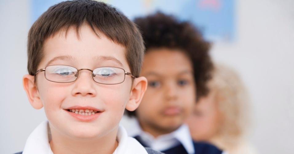 criança, óculos
