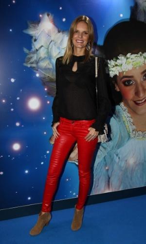 2.abr.2013 - Modelo Marcele Bittar prestigiou o espetáculo Corteo, do Cirque du Soleil, no Parque Villa-Lobos, em São Paulo