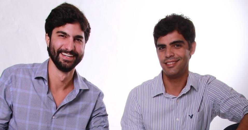 Os empreendedores Charles Simão e Nilson Gouvêa, sócios da Print4Me