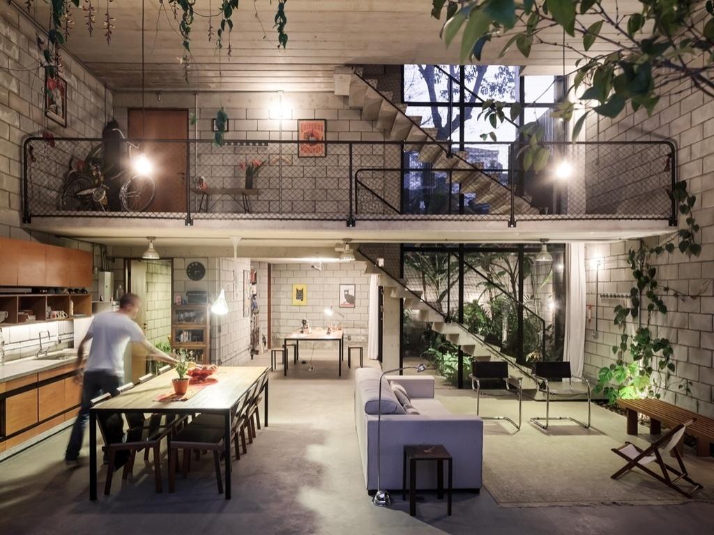 Fotos casa maracan na simplicidade das formas a beleza - Escritorio rustico barato ...