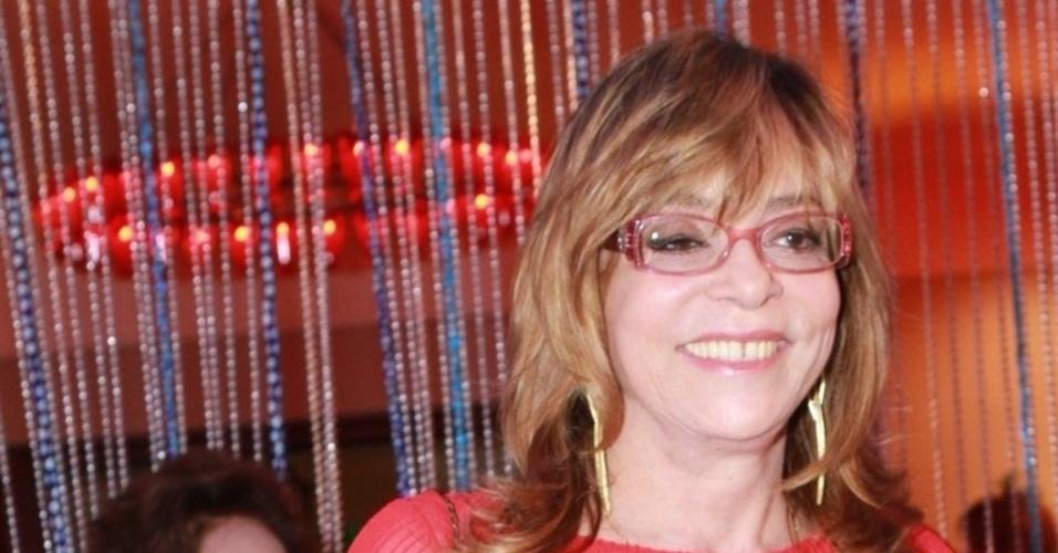 a autora Glória Perez participa de festa de lançamento da novela Salva Jorge
