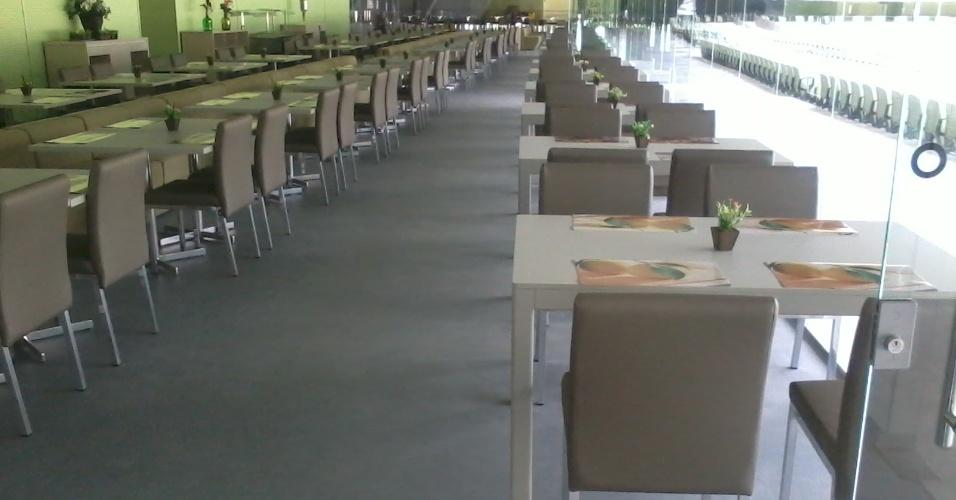 Localizado no anel inferior do estádio, o restaurante tem capacidade para atender 250 pessoas