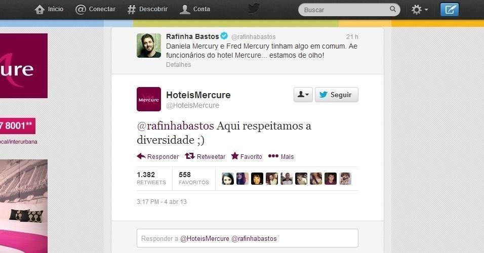 4.abr.2013 - O humorista Rafinha Bastos tentou fazer uma piada relacionando a cantora Daniela Mercury, que recentemente assumiu um relacionamento gay, e o cantor Freddie Mercury, homossexual e morto em 1991.