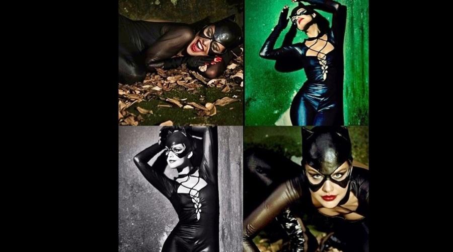 """3.abr.2013 - Paloma Bernardi fez um ensaio vestida de Mulher-Gato e divulgou as imagens por uma rede social. A atriz está no ar em """"Salve Jorge"""". Na trama, ela interpreta a vilã Rosângela"""