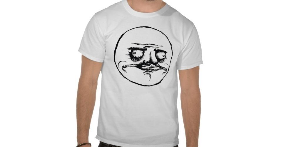 Meme clássico, o Me Gusta estampa essa camiseta, que pode ser personalizada em até 18 cores. Do Zazzle, R$ 33,65