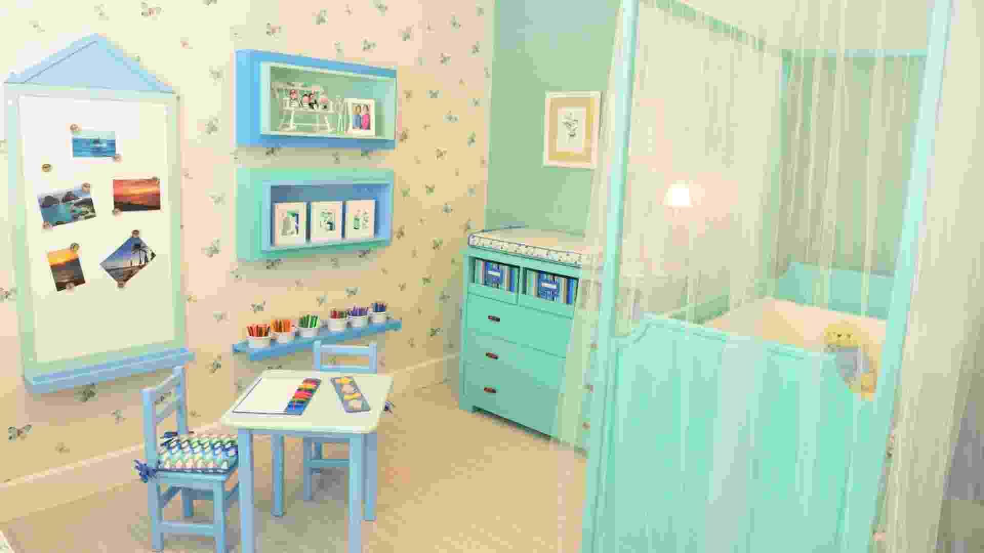Esta foto mostra projeto de um ambiente multifuncional criado por Ana Cristina Tavares e Claudia Krakowiak Bitran, da KTA Arquitetura. O quarto foi proposto para que, à noite, o bebê durma tranquilo e de dia sirva como cenário de brincadeiras - Rodrigo Trevisan/Divulgação