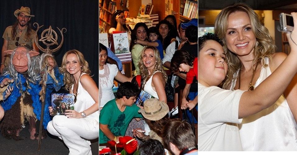 6.abr.2013 - Eliana participa de lançamento do primeiro livro infantil de sua editora