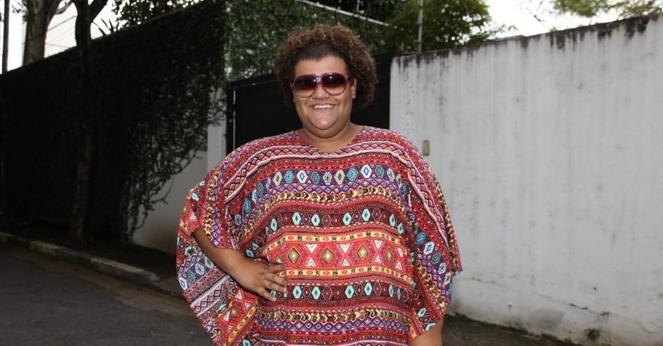 6.abr.2013 - Gominho vai ao aniversário de Maria Alice, filha de Ronaldo Fenômeno e Bia Anthony, em São Paulo