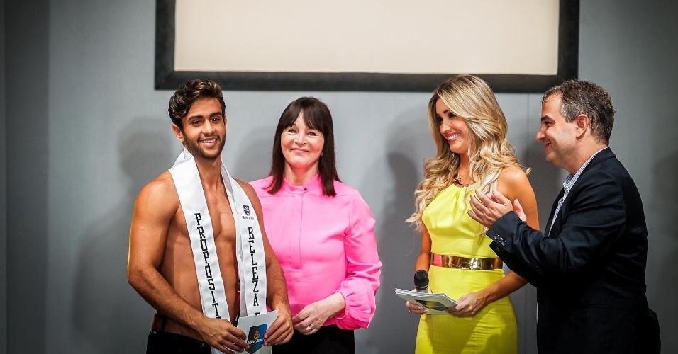 O anúncio do vencedor da prova de Beleza com Propósito foi feito pela CEO do Miss Mundo e do Mister Mundo, Julia Morley. O vencedor foi o Mister Acre, Ricardo Marques
