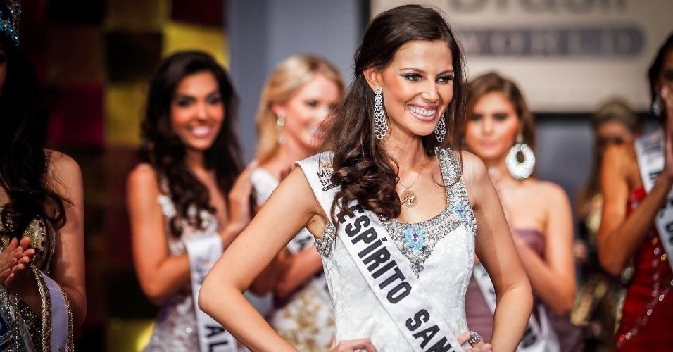 6.abr.2013 - Em segundo lugar ficou a Miss Espírito Santo World, Raquel Benetti