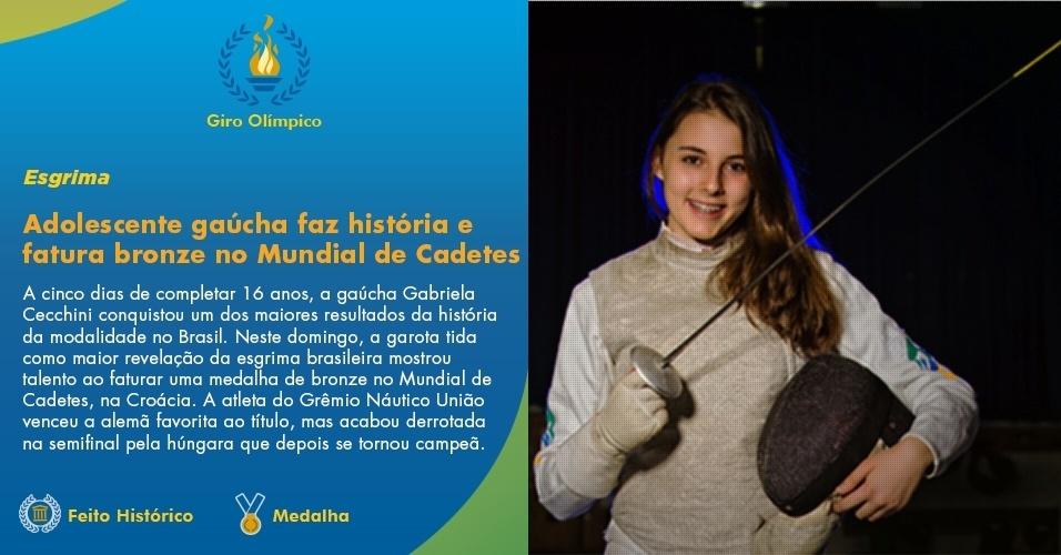 Gabriela Cecchini fatura bronze no Mundial de Esgrima