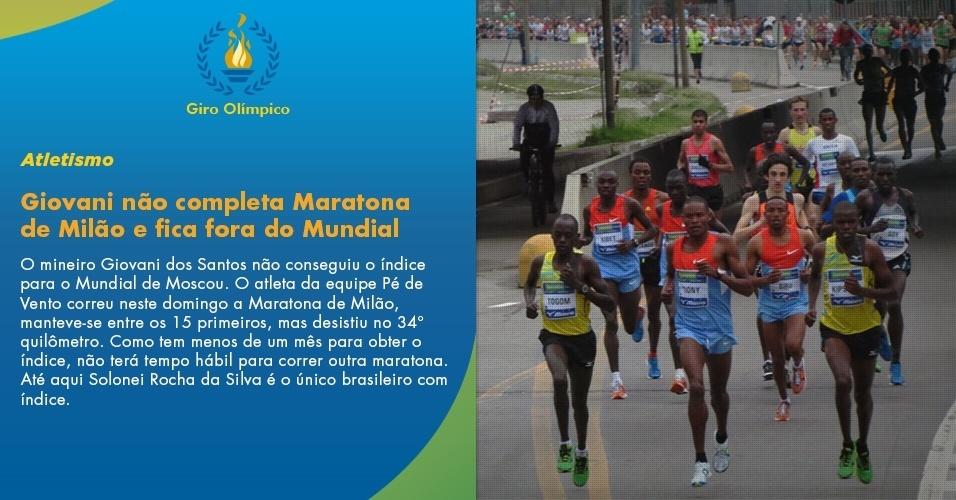 Giovani dos Santos não consegue índice para o Mundial na Maratona