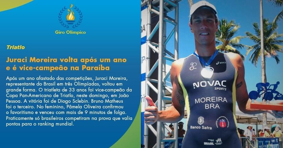 Juraci Moreira volta com medalha de prata no triatlo em João Pessoa
