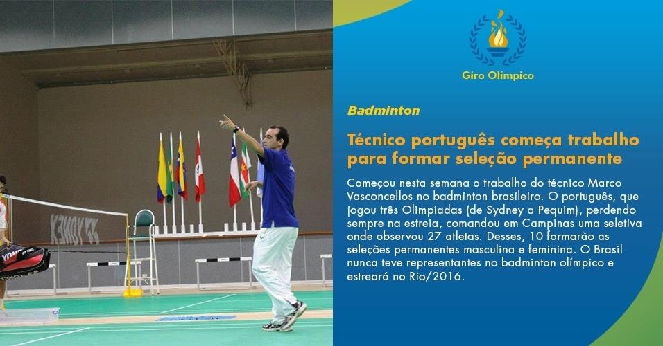 Técnico português começa trabalho para formar seleção permanente