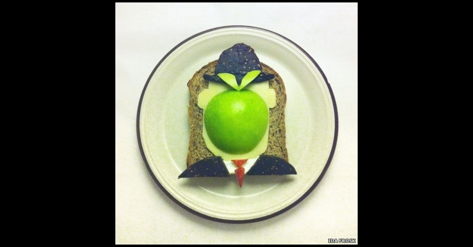8.abr.2013 - Artista e entusiasta da comida, a norueguesa Ida Frosk criou o projeto