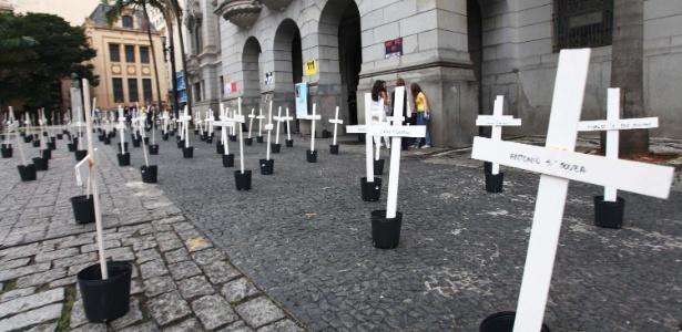 Em agosto de 2013, alunos da Faculdade de Direito da USP fizeram um protesto no largo São Francisco pelos 111 mortos no massacre do Carandiru - Renato S. Cerqueira/Futura Press