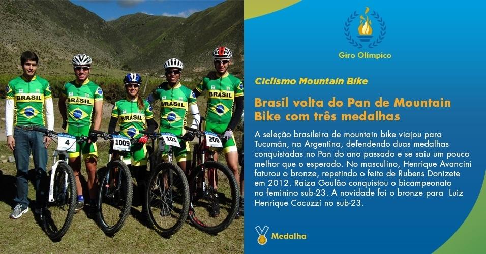 Brasil fatura três medalhas no Pan de Mountain Bike