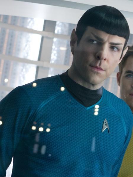 """Cena de """"Star Trek: Além da Escuridão"""", com Zachary Quinto - Divulgação / Paramount"""