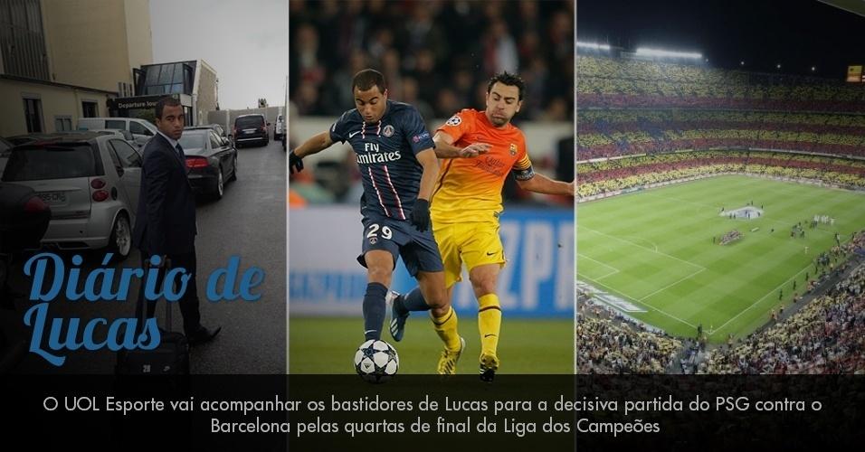 Diário de Lucas: O UOL Esporte vai acompanhar os bastidores do jogador para a decisiva partida do PSG contra o Barcelona pelas quartas de final da Liga dos Campeões
