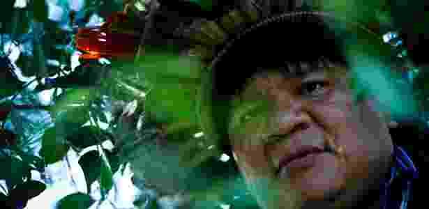 Almir Narayamoga, líder indígena que falou em Paris em defesa da Amazônia - Daniel Marenco/Folhapress