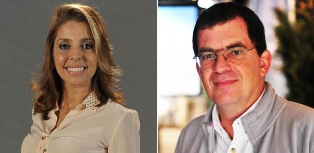 A atriz Paula Pereira e o diretor Marcos Schechtman