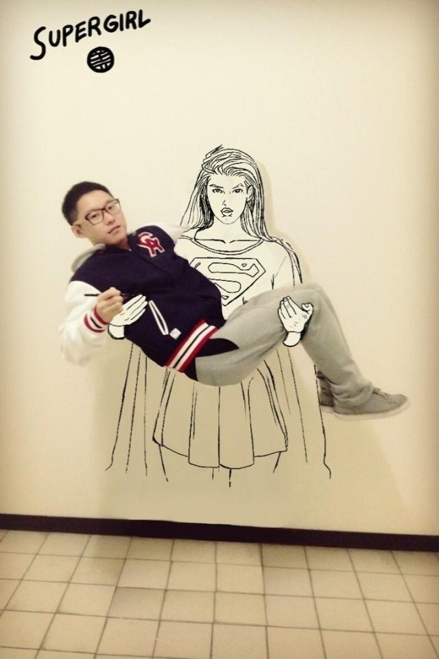 A Super Girl é uma das personagens ilustradas por Gaikuo Captain, estudante chinês
