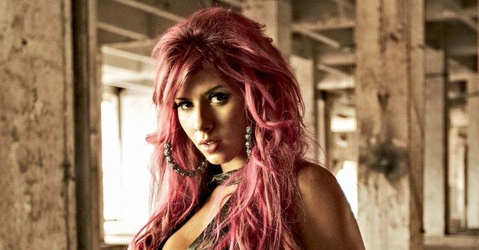 """A10.abr.2013 - A panicat Thaís Bianca é a estrela da edição de abril da revista """"Playboy"""""""