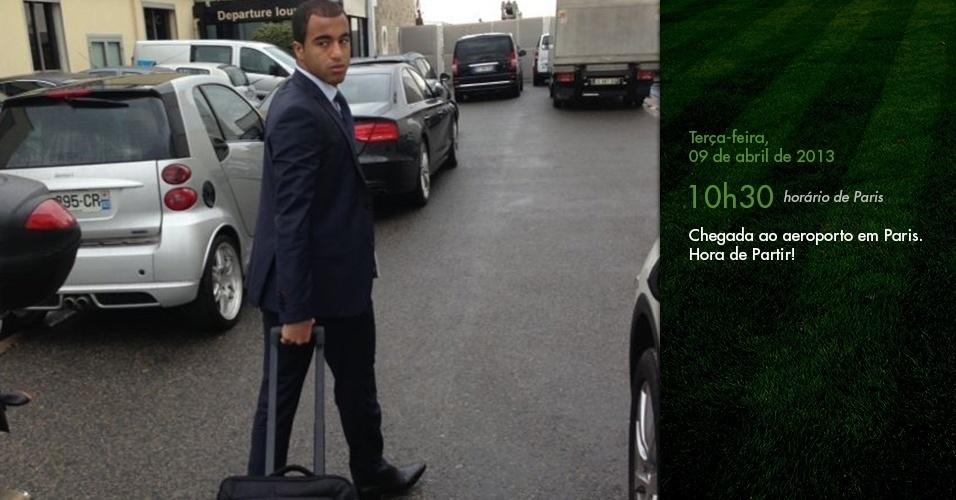 Diário de Lucas: Chegada ao aeroporto em Paris. Hora de partir! (10h30)