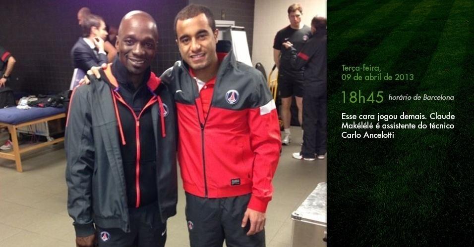 Diário de Lucas: Esse cara jogou demais. Claude Makélélé é assistente do técnico Carlo Ancelotti (18h45)