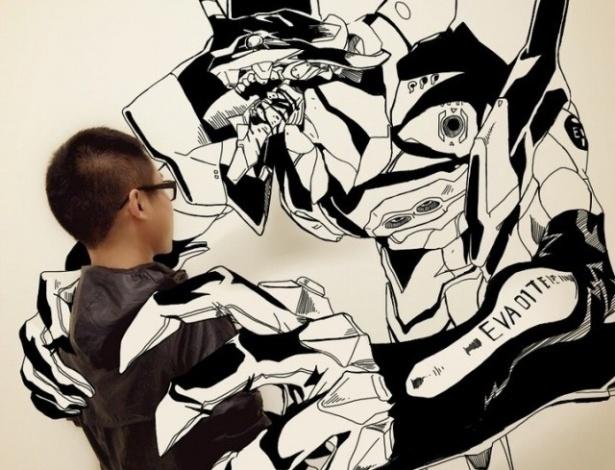 Gaikuo Captain é um talentoso estudante de ilustração chinês fã de cultura pop e quadrinhos. Em sua última série, ele aparece em montagens que misturam ilustração e Photoshop